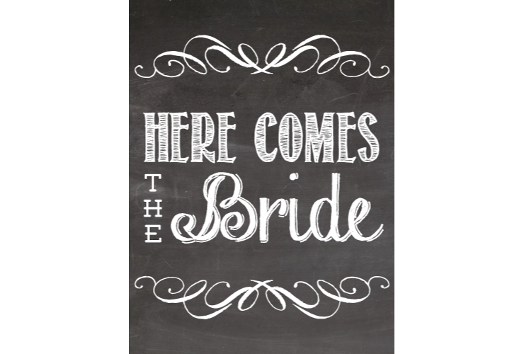 black and white download Here Comes The Bride Clipart
