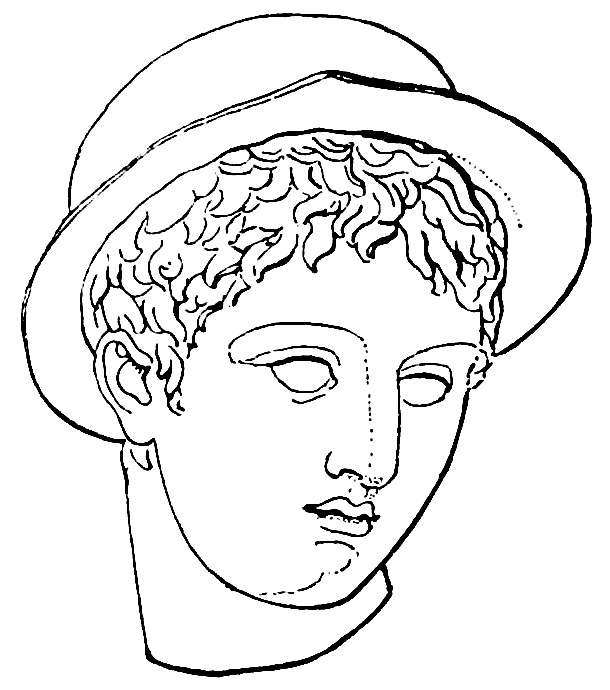 svg library library hermes drawing face #113544044