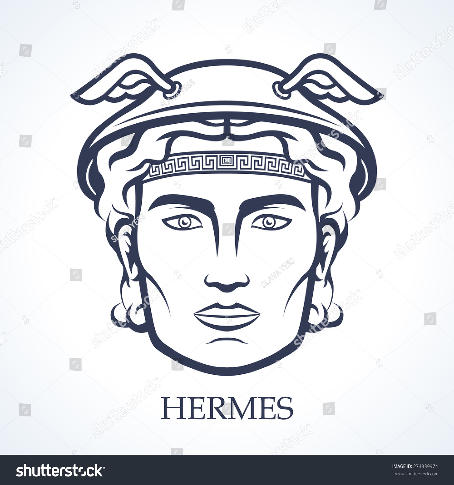 graphic download Greek god at getdrawings. Hermes drawing face