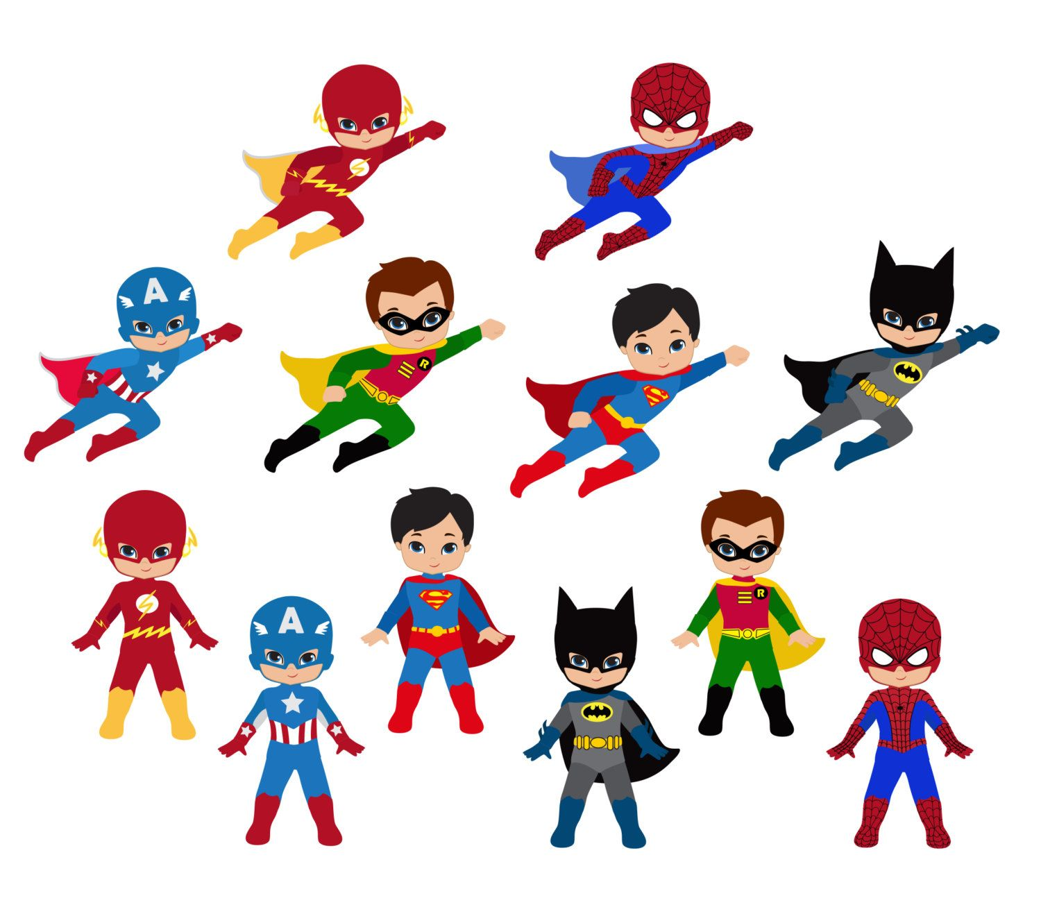 svg library Free . Superhero kids clipart