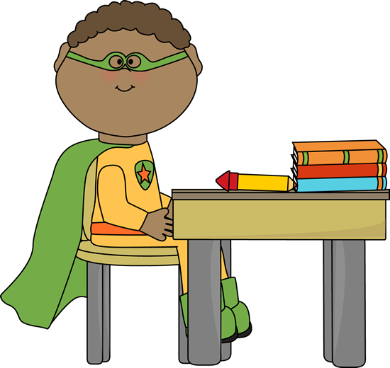 clip art freeuse stock Writer clipart super. Superhero clip art kids