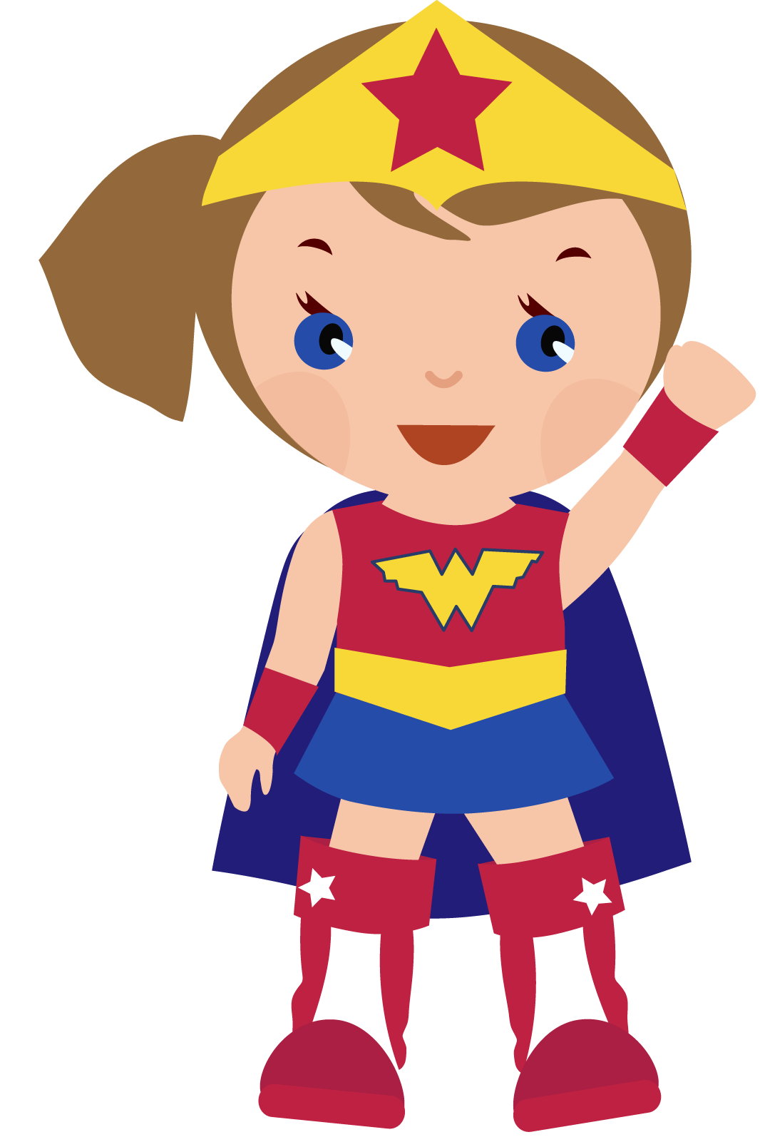 png freeuse download Girl super hero clip. Superhero kids clipart