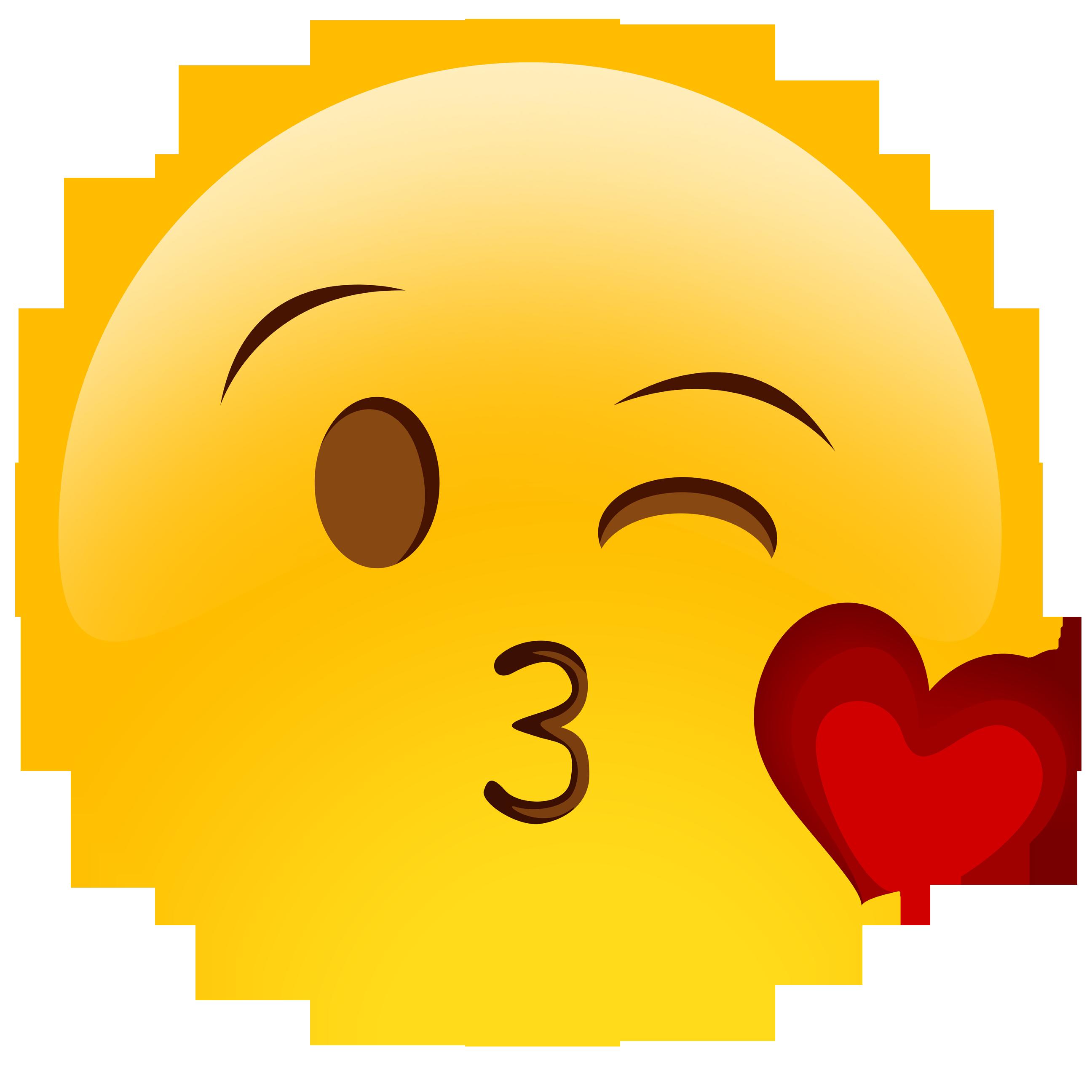 clip art stock Vector emojis kiss.  collection of emoji