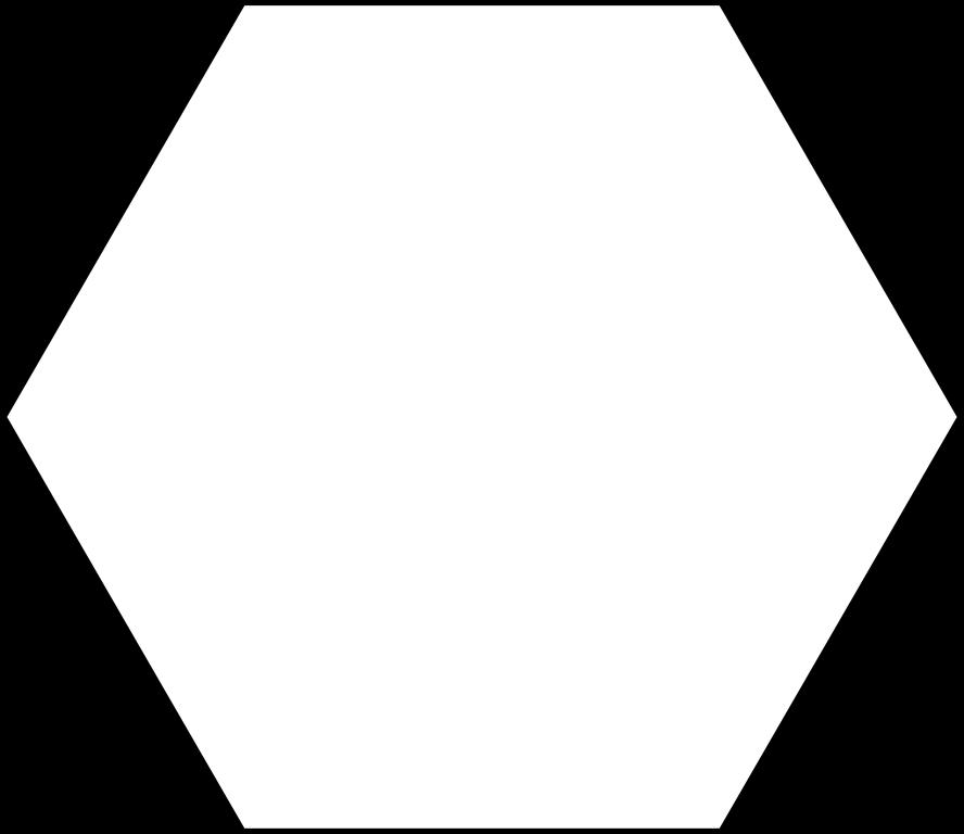 clip art black and white stock hexagon svg #87103042