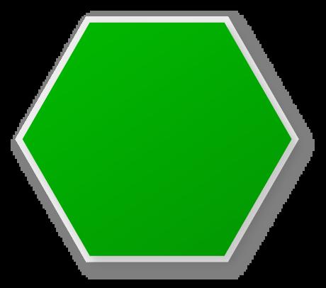vector transparent library Green Hexagon Clipart
