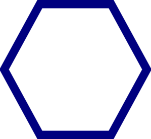 banner library Blue Hexagon Clip Art at Clker