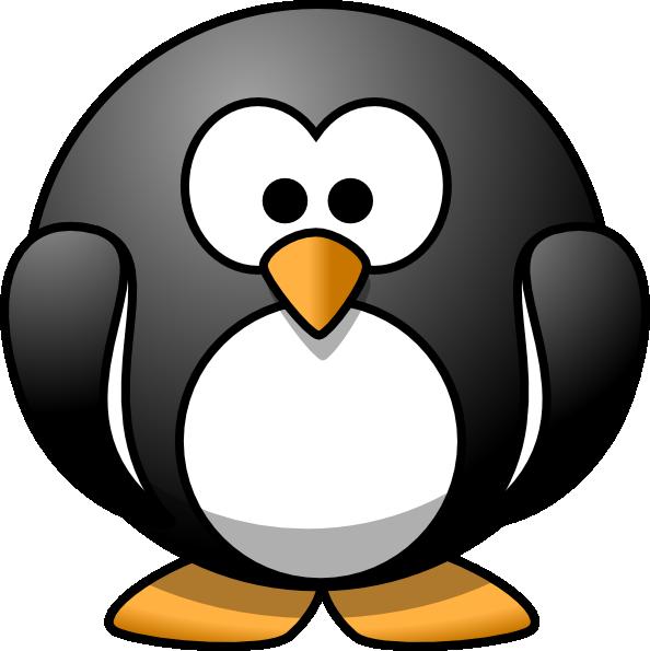 png black and white download Hi clipart. Cartoon penguin clip art