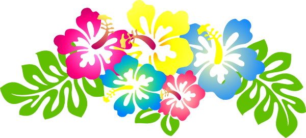 picture free stock Hawaiian clipart borders. Hibiscus flower clip art.