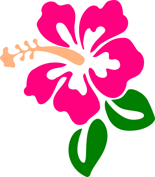 svg transparent library Hibiscus clip art at. Tropical clipart purple hawaiian flower