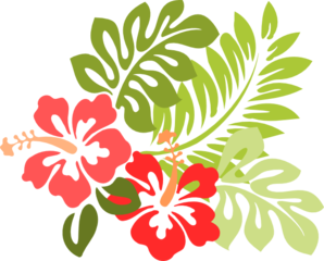 picture black and white library Clip art vector online. Hibiscus clipart