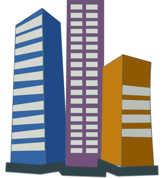 clipart library library High clipart. Real estate rise buildings