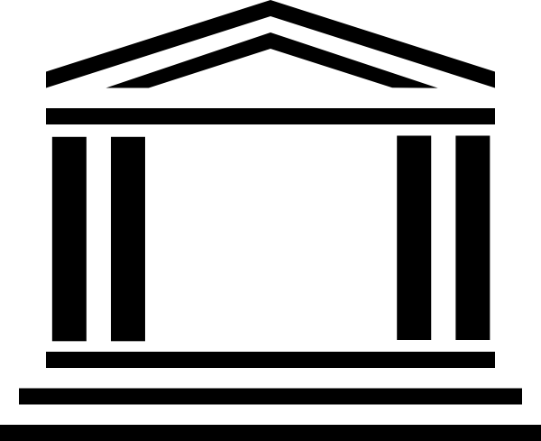 clip royalty free stock Government building clip at. Museum clipart line art.
