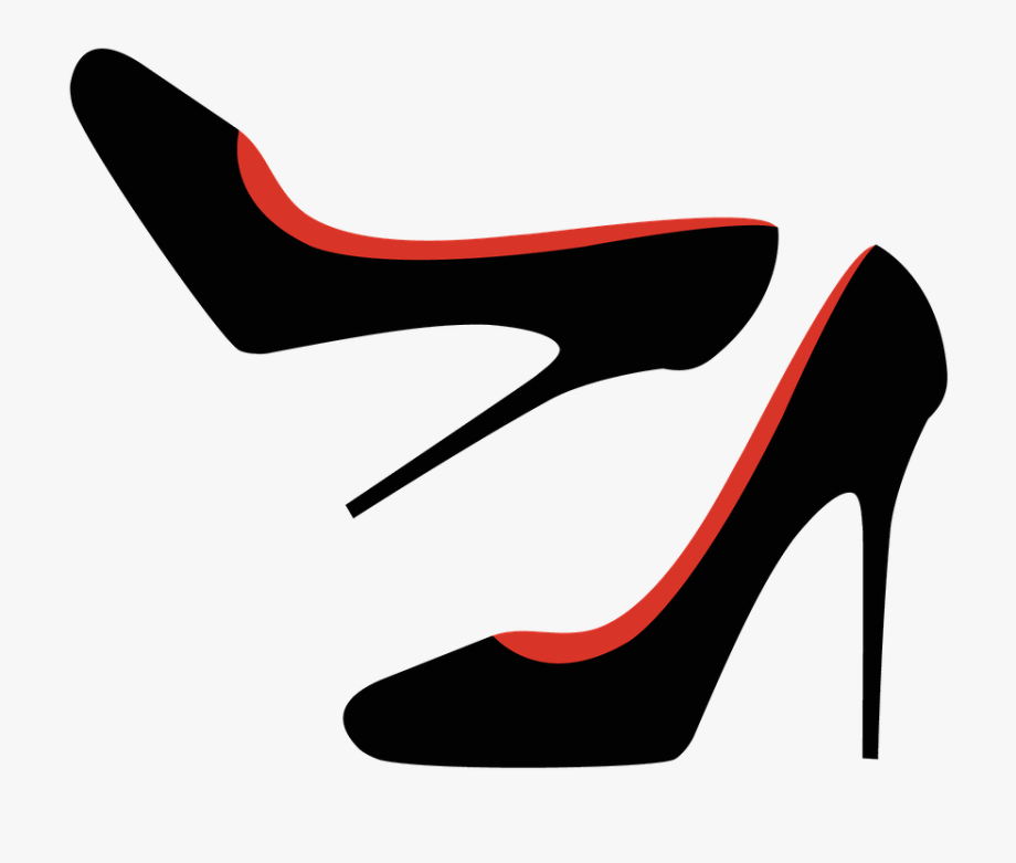 free stock Banner black and white. High heel clipart.