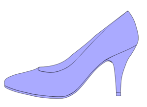 picture freeuse download High heel clipart. Purple .
