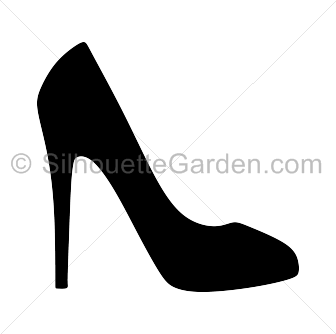 png black and white High heel clipart. Free download clip art.