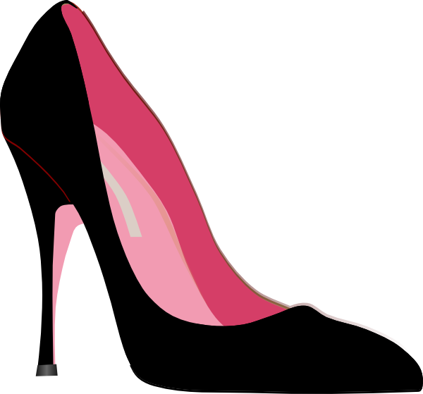 black and white library High Heel Clipart