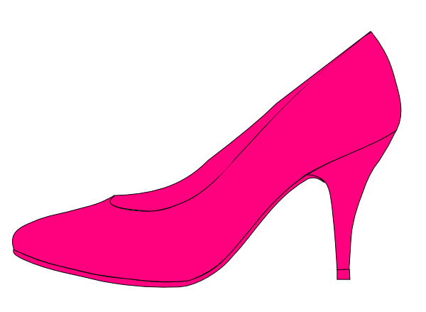 jpg free library Pink Shoe Clip Art at Clker