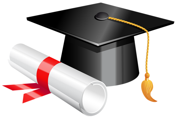 clip transparent Graduation Cap and Diploma PNG Clipart Picture