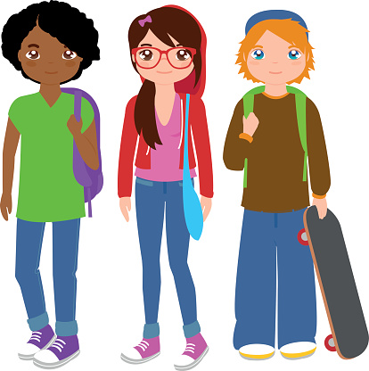 svg free library Free student cliparts download. High school students clipart.