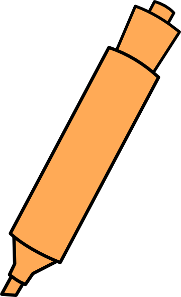 picture free download Orange Highlighter Clip Art at Clker