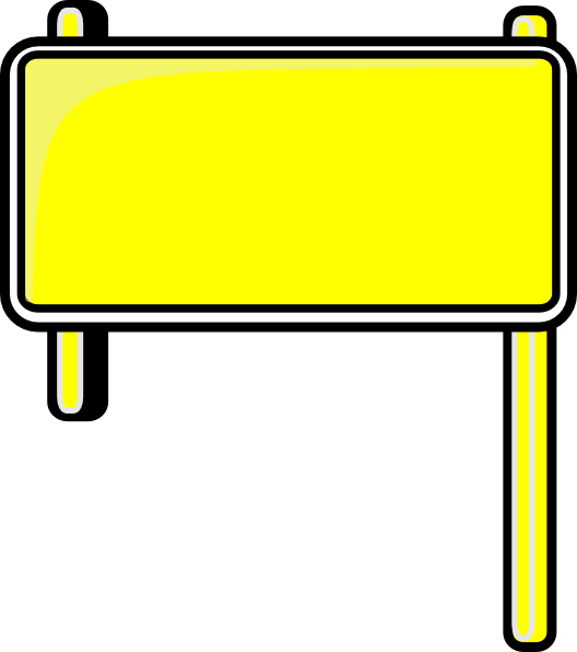 clip freeuse library Highway Sign Blank Clip Art at Clker