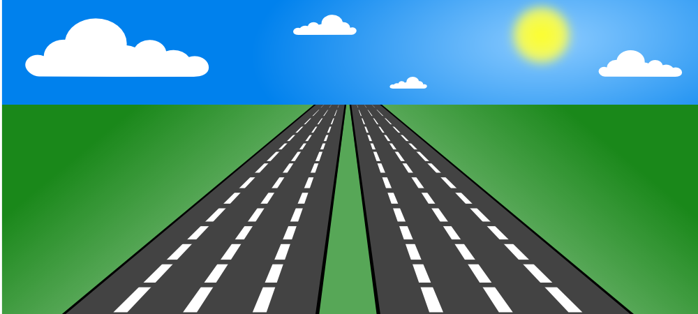 picture transparent Highway clipart road sky. Onlinelabels clip art open.