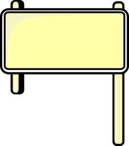 clipart royalty free stock Sign blank clip art. Highway clipart signboard