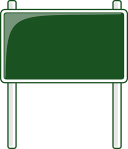 picture black and white library Green Road Sign Clip Art at Clker