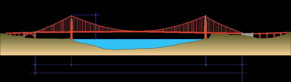 clip art stock Golden Gate Bridge