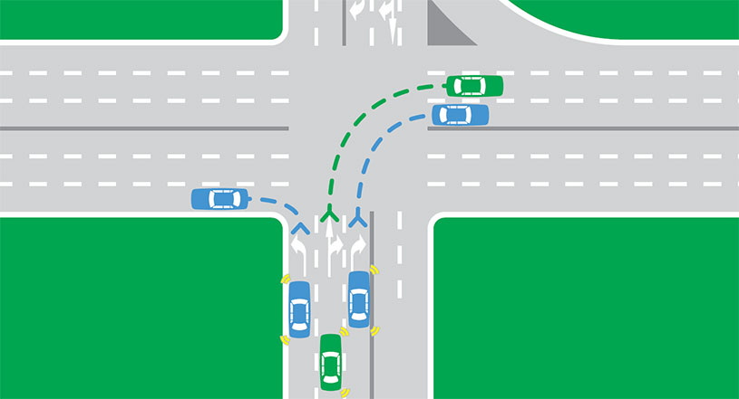 graphic black and white Highway drawing broken road. Markings rules safety roads