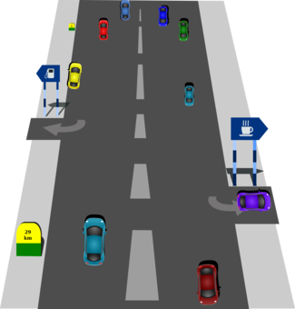 clipart black and white library Road curve Highway Traffic sign free commercial clipart