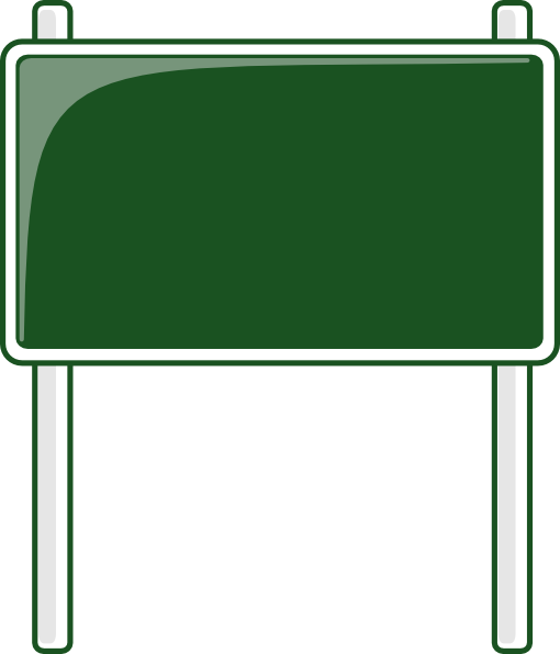 graphic Green Road Sign Clipart