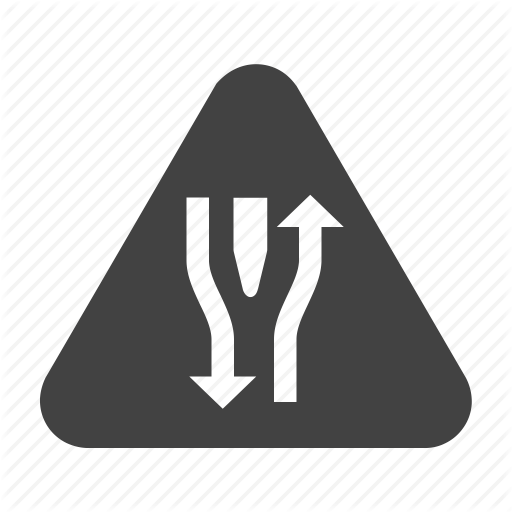 graphic black and white Traffic Signs Glyph