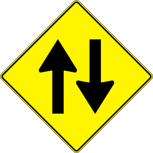 clipart black and white Paulprogrammer Yellow Road Sign Two Way Traffic Clip Art at Clker