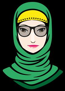 clip art library Search logo vectors free. Hijab vector.