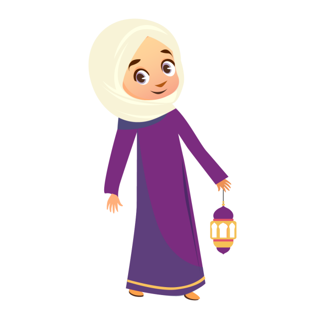 banner library library Muslim girl with element. Vector doctor hijab