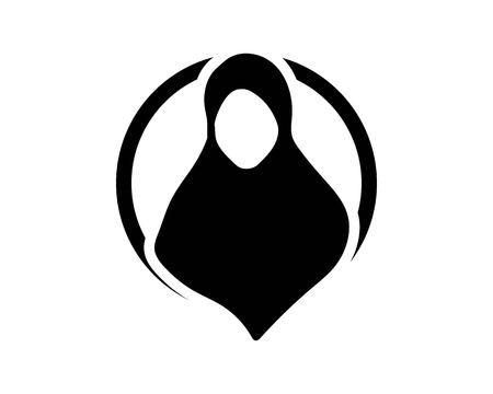 image download Black template royalty free. Hijab vector.