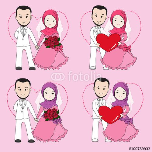 image Muslim wedding couple