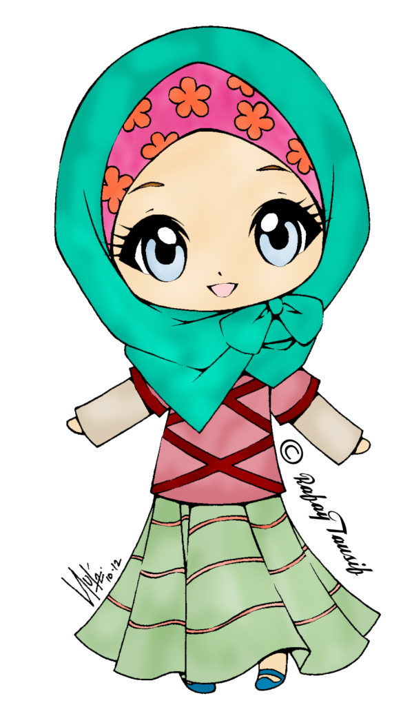 clipart royalty free download cute muslimah