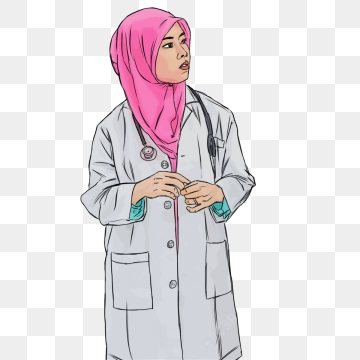 image transparent stock Women in png images. Vector doctor hijab