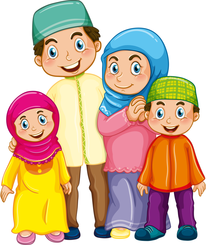 banner black and white download  png pinterest muslim. Vector cartoons family