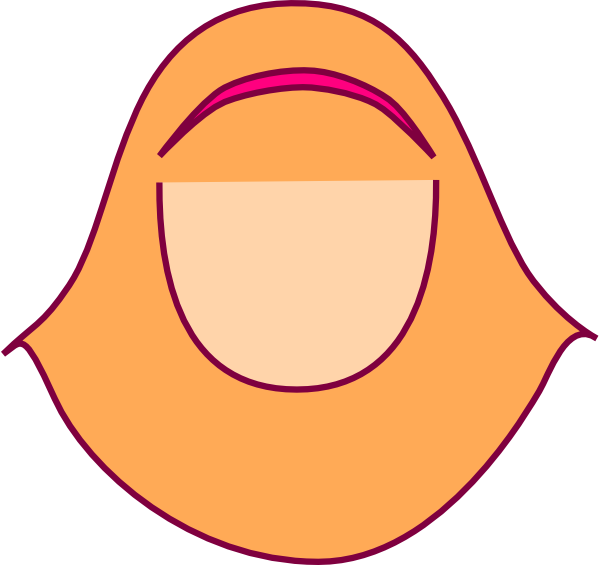 vector transparent Orange Hijabers Clip Art at Clker