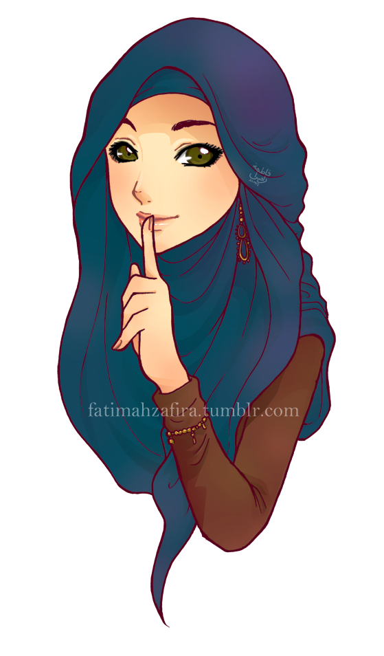clipart Hijab vector pop art. A simple gift for