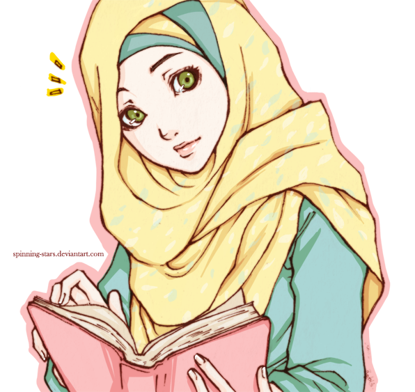 graphic transparent Anime muslimah pretty pinterest. Hijab vector pop art