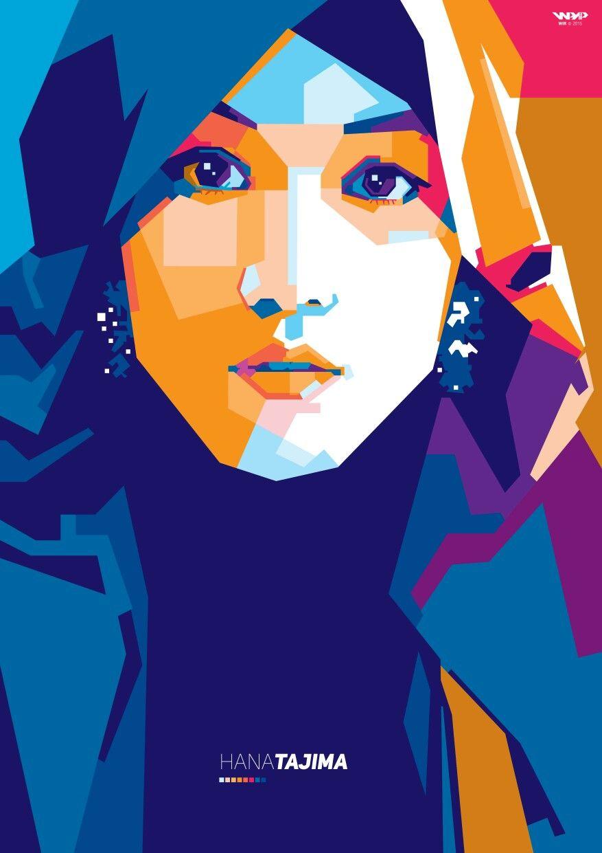 png royalty free library Hijab vector pop art. Hana tajima simpson a