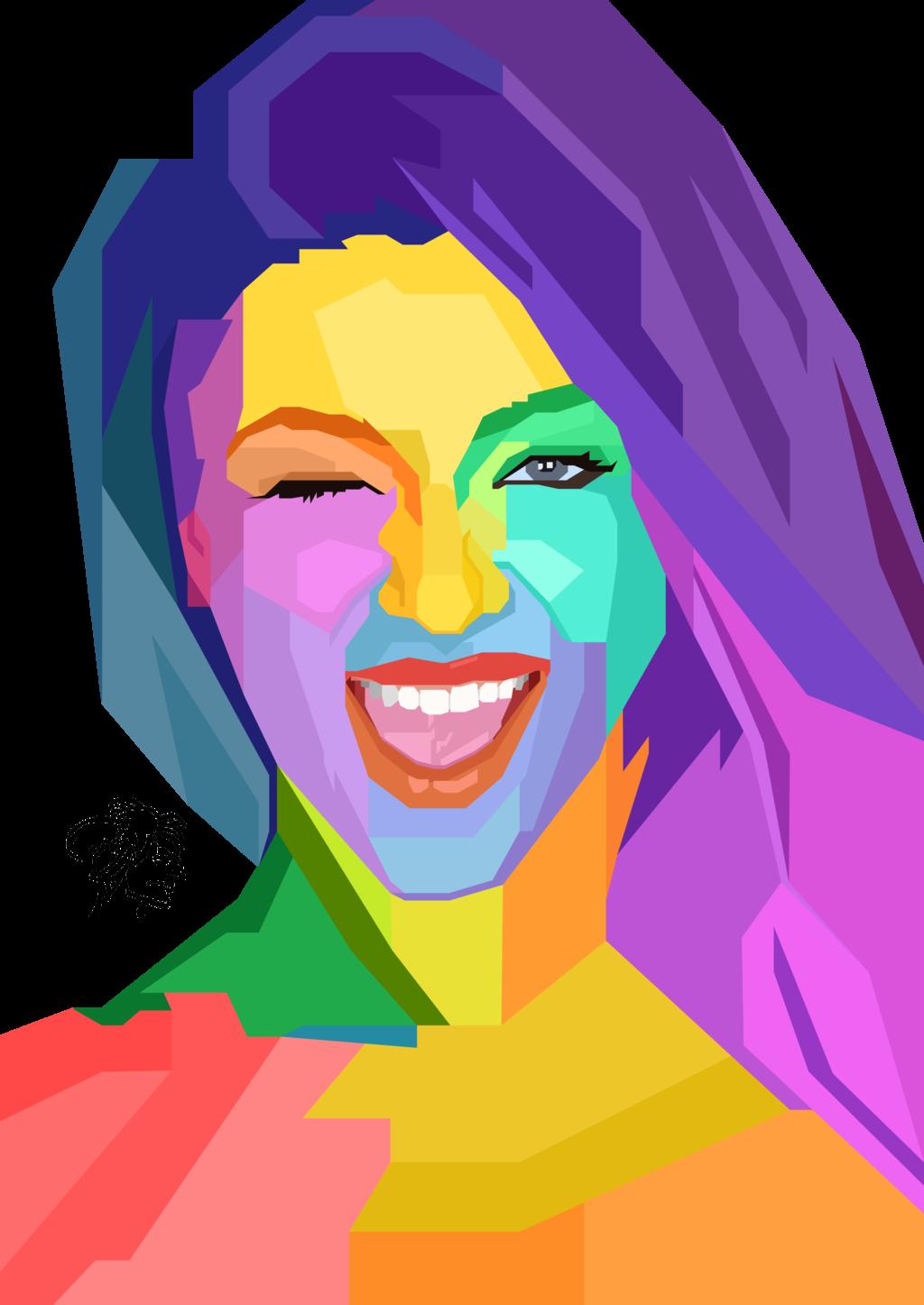 svg free library Hijab vector pop art. Blanca brooke portrait by