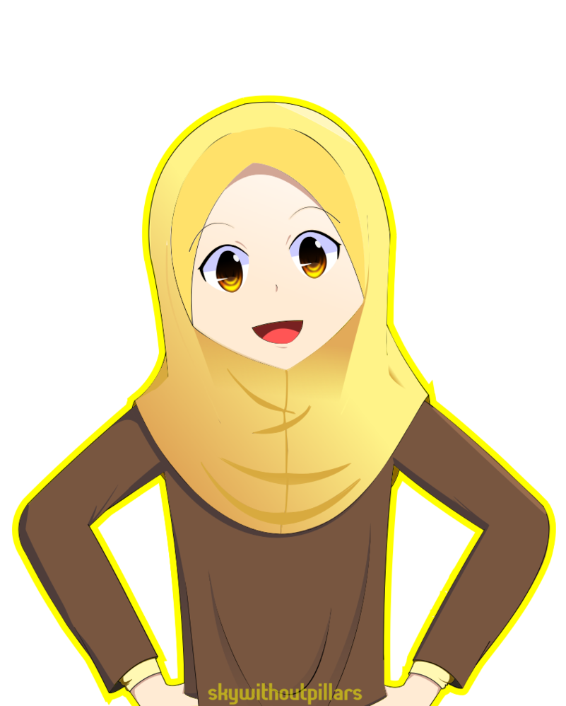 jpg transparent library My first hijab drawing