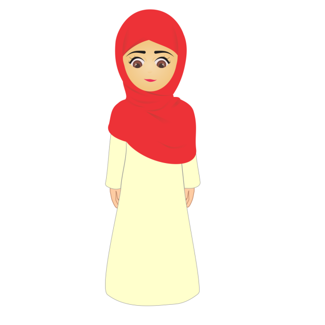 clip royalty free download Vector doctor hijab. Little muslim girl with