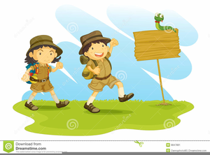 banner library Cub scout free images. Hike clipart.