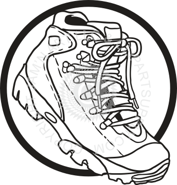 banner freeuse download Hiking boot . Hike clipart